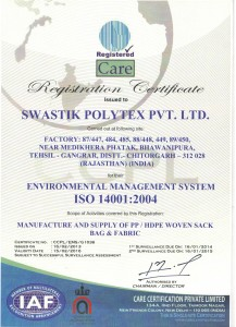 Certified for Environmental Management System